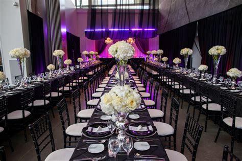 purple black  white wedding