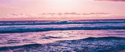 Desktop Sunset Waves Vaporwave Sea Wallpapers Seashore