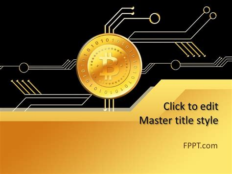 money bitcoin powerpoint template  powerpoint