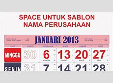 UPDATE KALENDER TOKO 2013 lengkap dengan Kalender Masehi