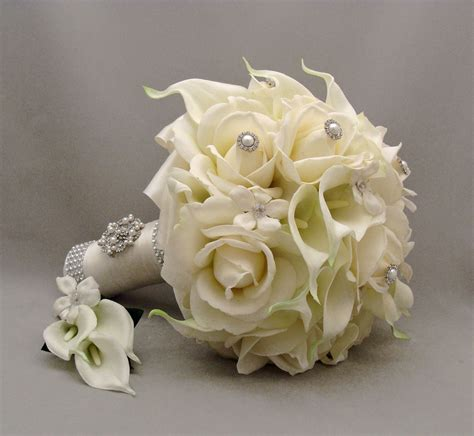 wedding bouquets silk flowers