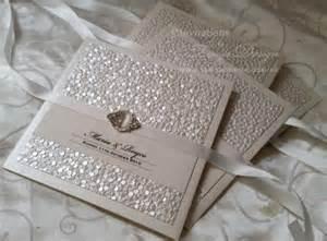 pocket wedding invitation kits vintage wedding invitations with pearl luxury
