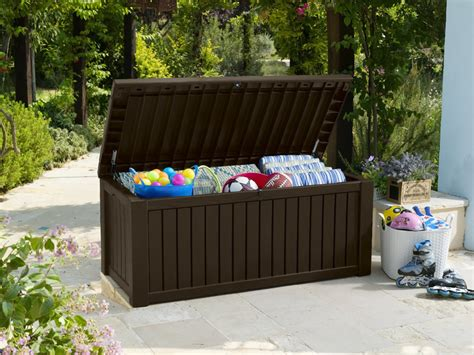 Lada Solare Esterno by Keter Rockwood Storage Box Brown Wood Effect 163 149