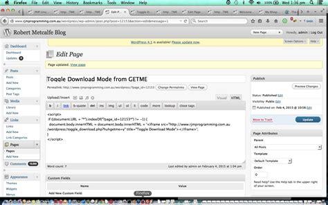 wordpress blog  mode toggler primer tutorial