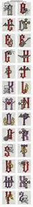 25 best ideas about cross stitch letters on pinterest With heavy metal alphabet letters