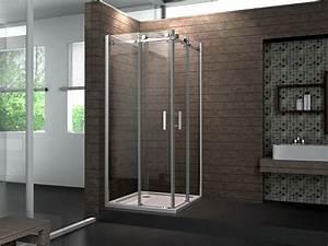paroi de douche d39angle 80 x80 cm avec portes coulissantes With porte de douche coulissante avec seche serviette electrique design salle de bain