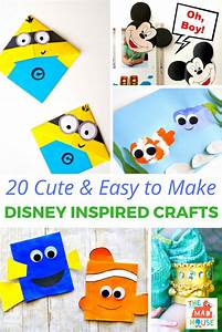 20 and easy to make disney inspired crafts disney