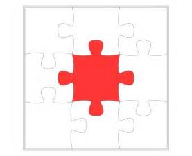 9 Piece Jigsaw Puzzle Template