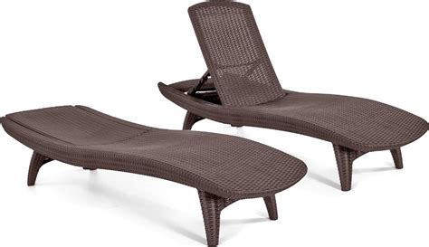 chaise amazon keter 2pc rattan outdoor chaise lounge chairs patio table