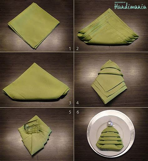 how to fold napkin for christmas table winter decor