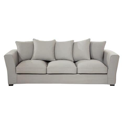 canapé 4 places tissu canapé 4 places en tissu gris clair balthazar maisons du