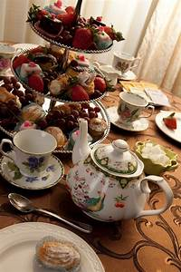 3-Tier tea party food ideas. - Mixture of different snacks ...