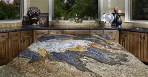 this granite slab from arizona tile is a work of art