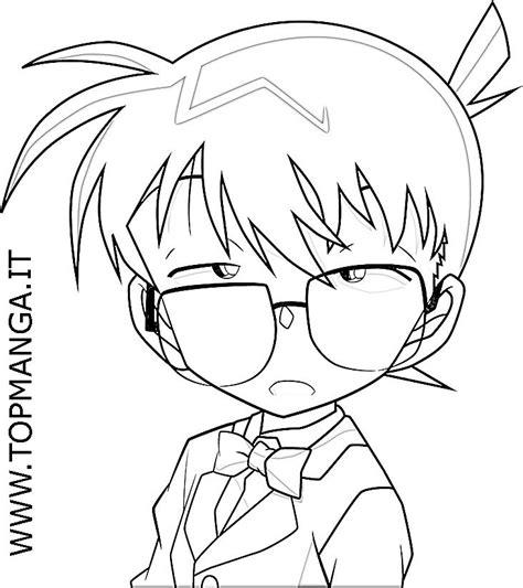 disegni da colorare anime immagini da colorare di detective conan topmanga