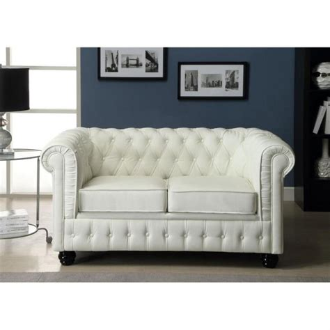 photos canap 233 chesterfield convertible cuir blanc