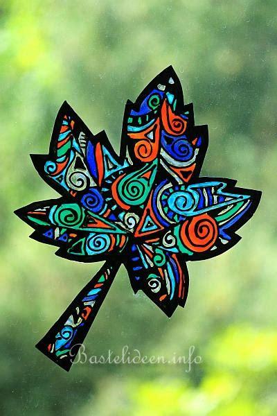 malen fuer erwachsene window color herbstblaetter