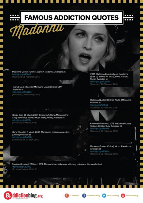 Madonna's Quotes On Drug Use And Drinking (infographic. Strong Love Break Up Quotes. Winnie The Pooh Quotes Inspirational. Tumblr Quotes Lyrics. Man Crush Monday Quotes. Love Quotes For Him Naughty. Disney Nala Quotes. Success Quotes Hindi And English. Inspiring Quotes On Life