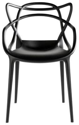 chaise master starck fauteuil masters kartell plastique noir made in design