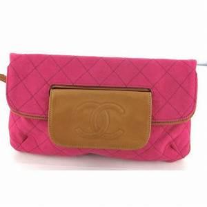 Pochette Rose Gold : pochette chanel en tissu rose et cuir gold valois vintage paris ~ Teatrodelosmanantiales.com Idées de Décoration