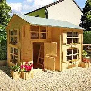 Maison Pour Enfant En Bois : la cabane de jardin pour enfant est une id e superbe pour ~ Premium-room.com Idées de Décoration