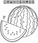 Watermelon Coloring Pages Fruit Drawing Sheets Colorings Coloringpagesfortoddlers Printable Summer Fruits Fresh Colored Getdrawings sketch template