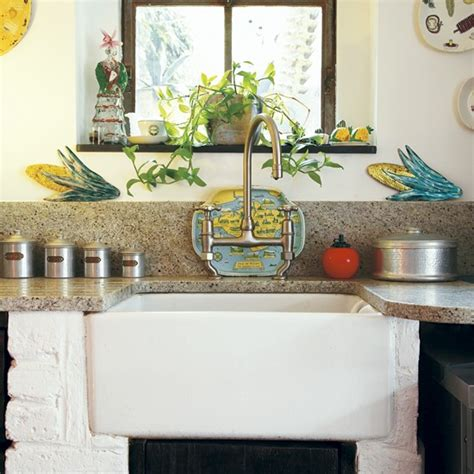 Rustic Kitchen Sink  Take A Tour Around An Eclectic