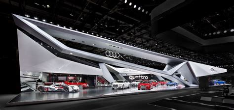 » Audi Booth At Paris Motor Show By Kms Blackspace And