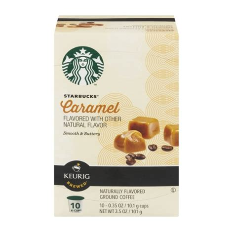 0% saturated fat 0g trans fat 0g. Starbucks Caramel Ground Coffee Keurig K-Cups - 10 CT ...