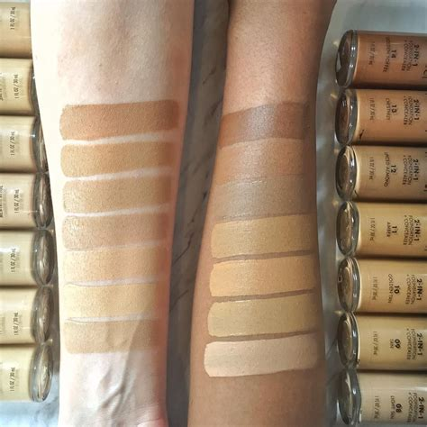 swatches shades milani conceal perfect