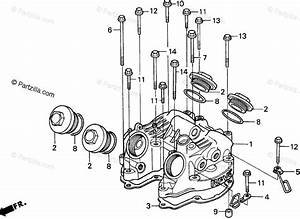 Honda Motorcycle 1996 Oem Parts Diagram For Cylinder Head