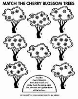 Cherry Tree Coloring Match Pages Blossom Crayola Trees sketch template