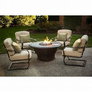South Beach All Weather Wicker Dining Fire Pit Chat Set ...