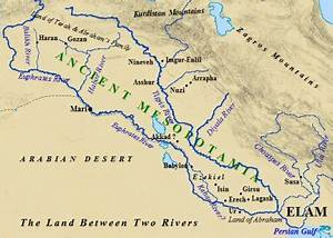 Anicent Mesopotamia located on a map, situated... | Sutori