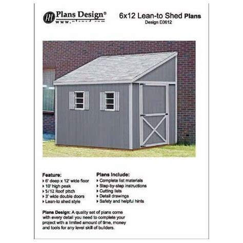 Shed Plans 6 X 12 by How To Build A Storage Shed Lean To Style Shed Plans 6