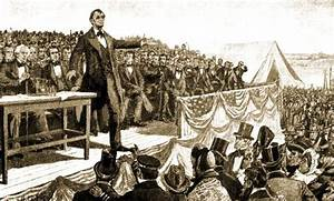 This is when Abraham Lincoln was giving his speech about ...
