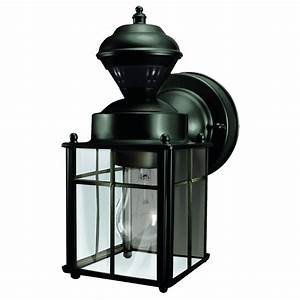 heath zenith 952 in h matte black motion activated With lowes edmonton outdoor lighting