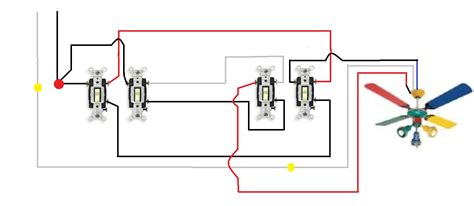 how to wire a ceiling fan switch wiring a ceiling fan with two switches diagram 46 wiring