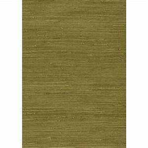 Kenneth James 8 in. x 10 in. Izumi Olive Grasscloth ...