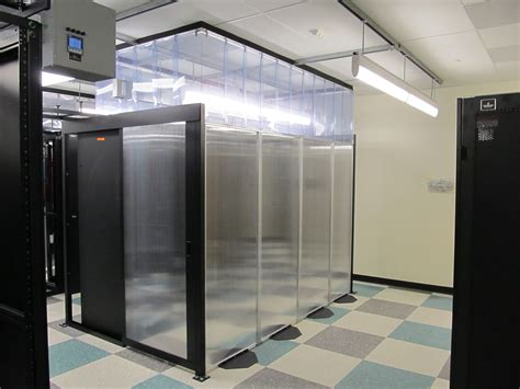 barrier panels cold aisle containment data center