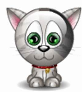 Silver Glitter Kitty emoticon | Emoticons and Smileys for ...