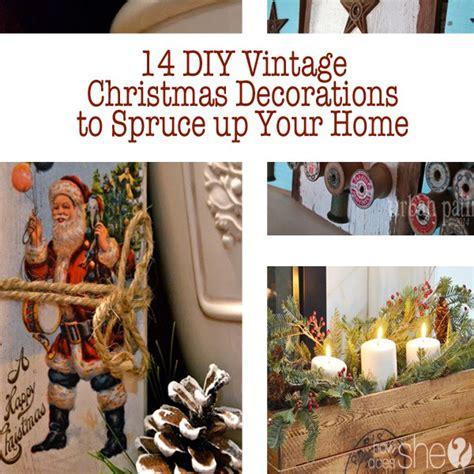 diy vintage christmas 14 diy vintage christmas decorations