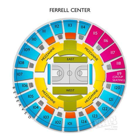 bureau connect ferrell center seating chart seats