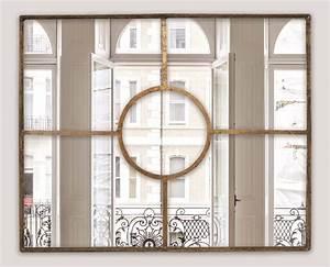 Miroir Doré Rectangulaire : grand miroir fen tre dor miroirs emde ~ Teatrodelosmanantiales.com Idées de Décoration