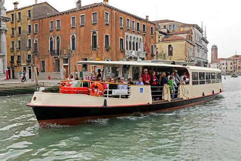 Venice Water Taxi Boats Transfer Service Or Pubblic Water