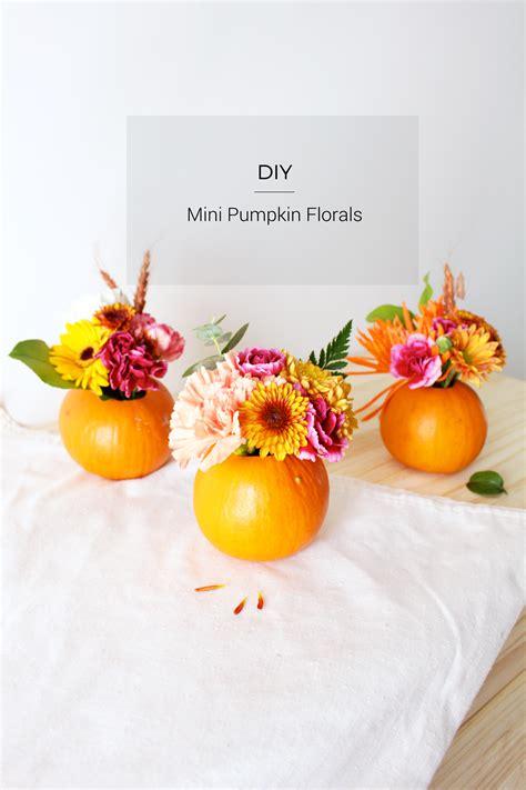 Diy Mini Pumpkin Florals  Fish & Bull