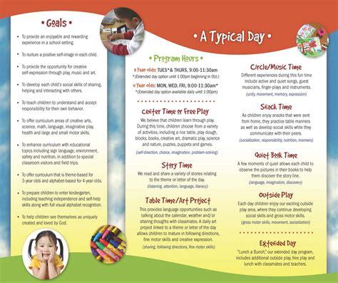 valley christian preschool our brochure 871 | VCP Brochure back