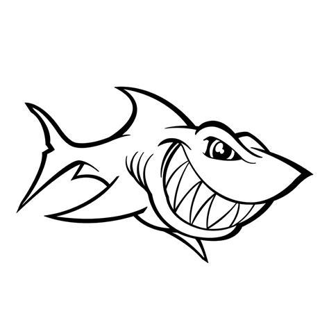 Haai Kleurplaat by Leuk Voor Deze Haai Heeft Enorme Tanden
