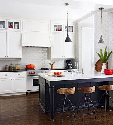 white kitchen with black island black white kitchen stools islands and