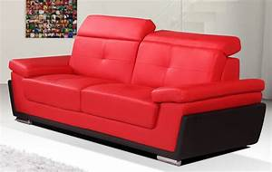 Black and red leather sofa 28 images passero black and for Red and black sofa bed