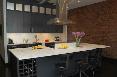 Kitchen Island Wine Rack Design Ideas